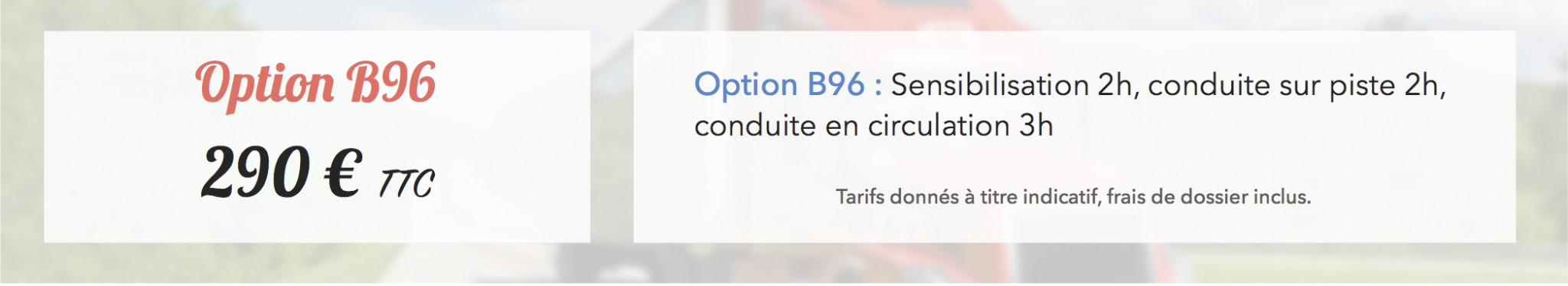 Remorque Option B96